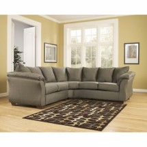 Flash Furniture FSD-1109SEC-SAG-GG Signature Design by Ashley Darcy Sectional in Sage Fabric