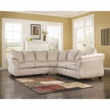 Flash Furniture FSD-1109SEC-STO-GG Signature Design by Ashley Darcy Sectional in Stone Fabric
