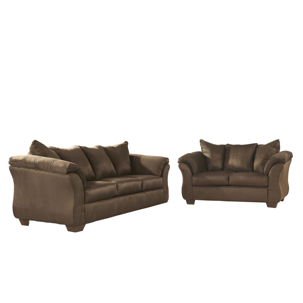 Flash Furniture FSD-1109SET-CAF-GG Signature Design by Ashley Darcy Living Room Set in Cafe Fabric