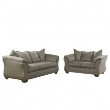 Flash Furniture FSD-1109SET-COB-GG Signature Design by Ashley Darcy Living Room Set in Cobblestone Fabric