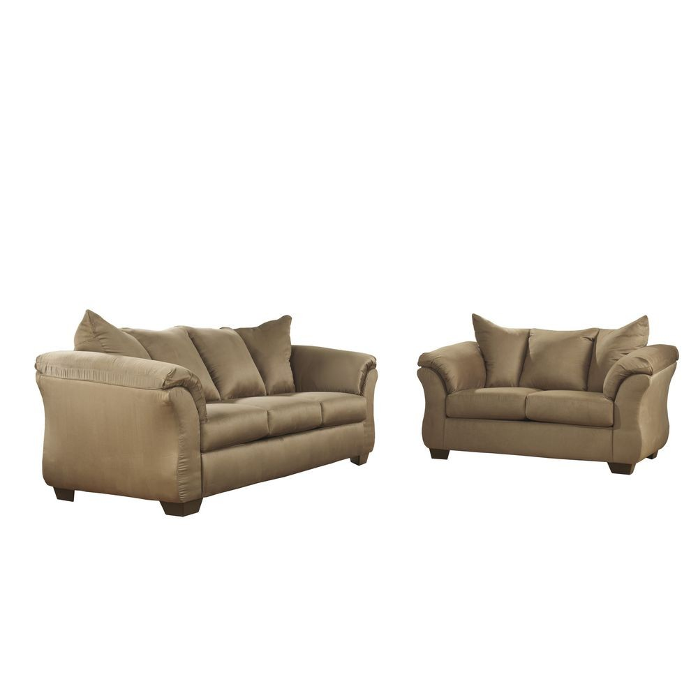 Flash Furniture FSD-1109SET-MOC-GG Signature Design by Ashley Darcy Living Room Set in Mocha Fabric