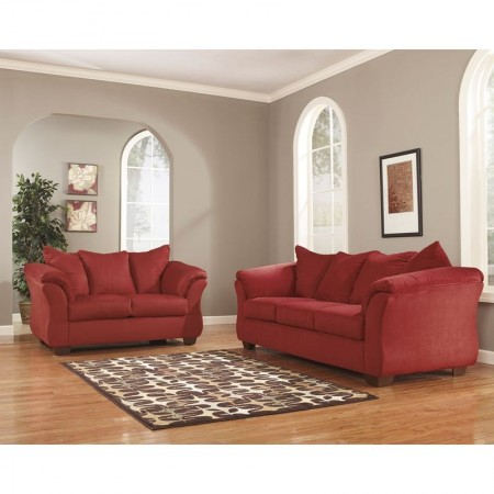 Flash Furniture FSD-1109SET-RED-GG Signature Design by Ashley Darcy Living Room Set in Salsa Fabric