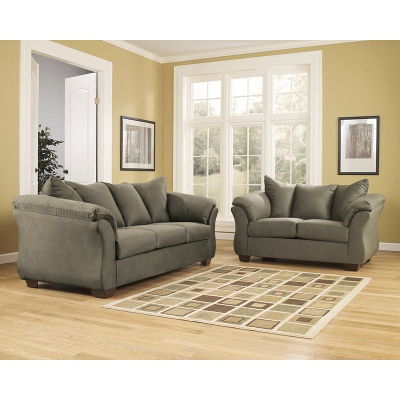 Flash Furniture FSD-1109SET-SAG-GG Signature Design by Ashley Darcy Living Room Set in Sage Fabric