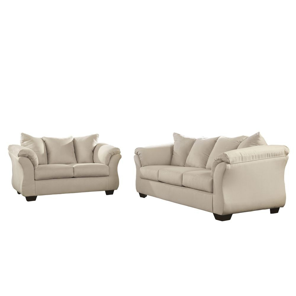 Flash Furniture FSD-1109SET-STO-GG Signature Design by Ashley Darcy Living Room Set in Stone Fabric