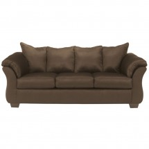 Flash Furniture FSD-1109SO-CAF-GG Signature Design by Ashley Darcy Sofa in Cafe Fabric