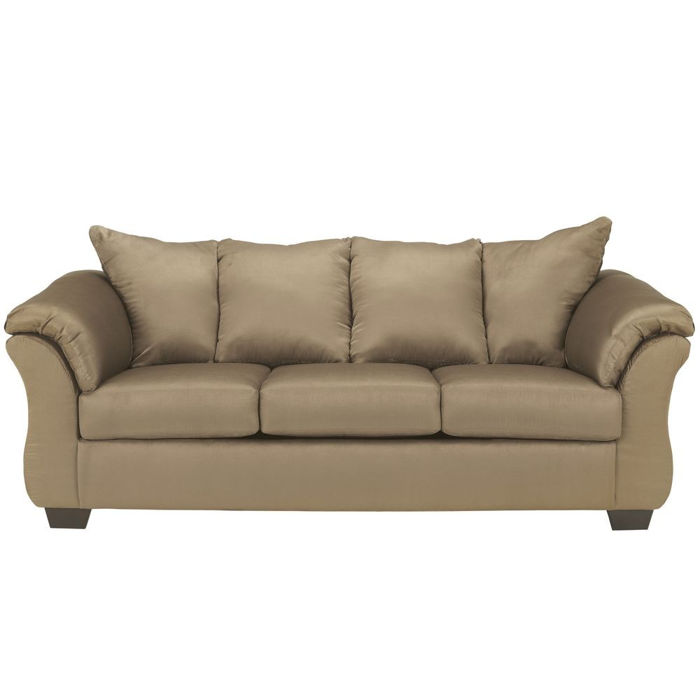 Flash Furniture FSD-1109SO-MOC-GG Signature Design by Ashley Darcy Sofa in Mocha Fabric