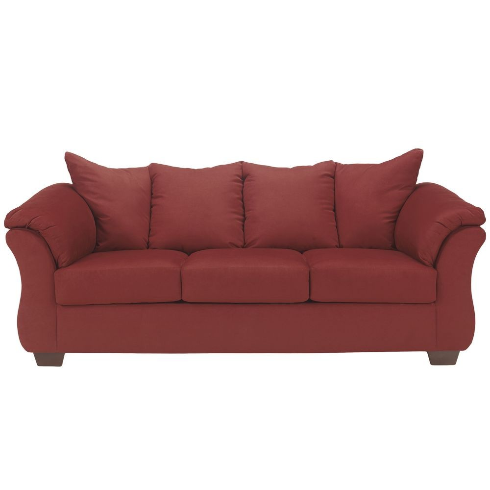 Flash Furniture FSD-1109SO-RED-GG Signature Design by Ashley Darcy Sofa in Salsa Fabric