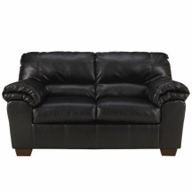 Flash Furniture FSD-2129LS-BLK-GG Signature Design by Ashley Commando Loveseat in Black Leather