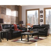 Flash Furniture FSD-2129SET-BLK-GG Signature Design by Ashley Commando Living Room Set in Black Leather