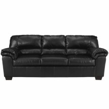 Flash Furniture FSD-2129SO-BLK-GG Signature Design by Ashley Commando Sofa in Black Leather