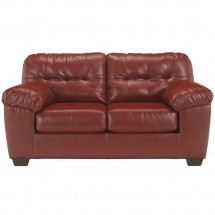Flash Furniture FSD-2399LS-RED-GG Signature Design by Ashley Alliston Loveseat in Salsa DuraBlend
