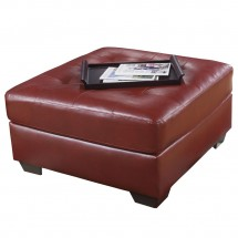 Flash Furniture FSD-2399OTT-RED-GG Signature Design by Ashley Alliston Oversized Ottoman in Salsa DuraBlend