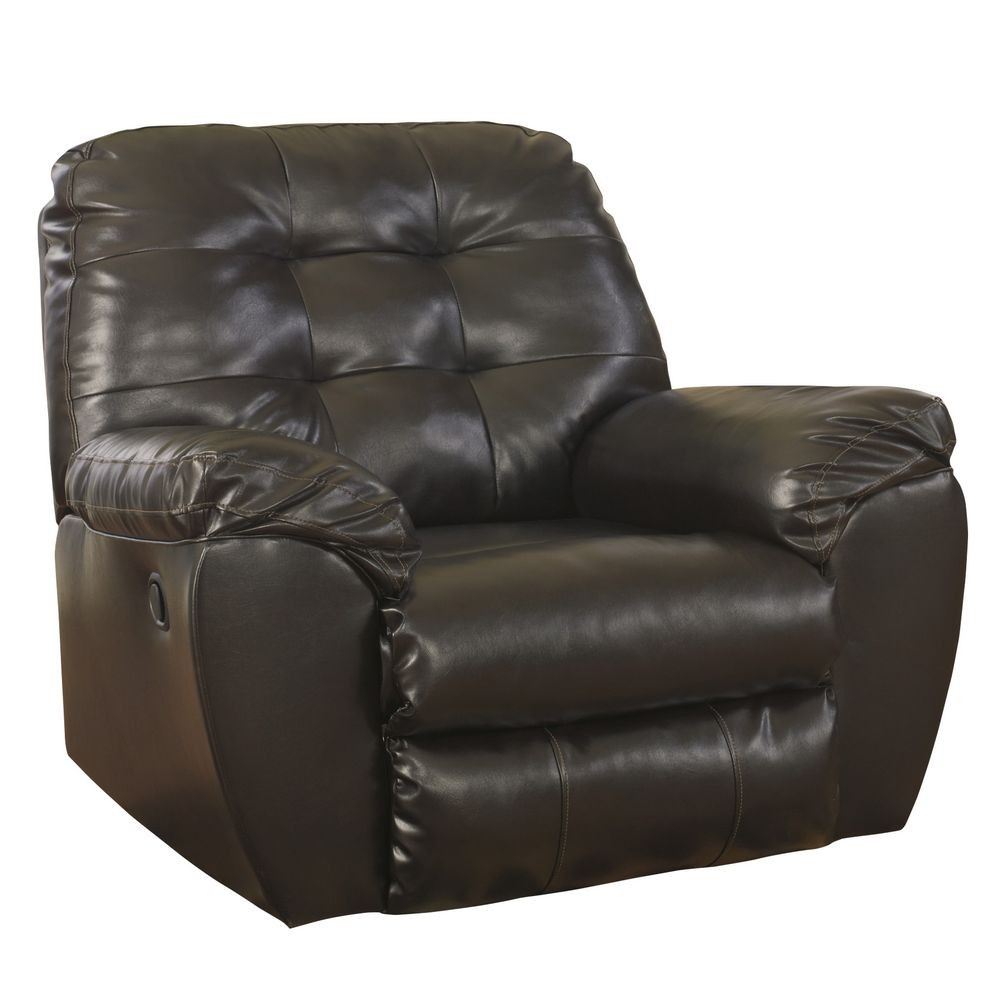 Flash Furniture FSD-2399REC-CHO-GG Signature Design by Ashley Alliston Rocker Recliner in Chocolate DuraBlend