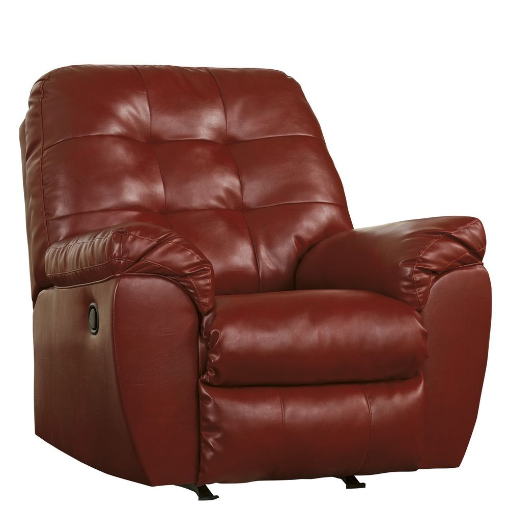 Flash Furniture FSD-2399REC-RED-GG Signature Design by Ashley Alliston Rocker Recliner in Salsa DuraBlend