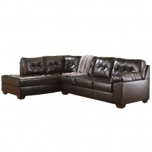 Flash Furniture FSD-2399SEC-CHO-GG Signature Design by Ashley Alliston Sectional in Chocolate DuraBlend