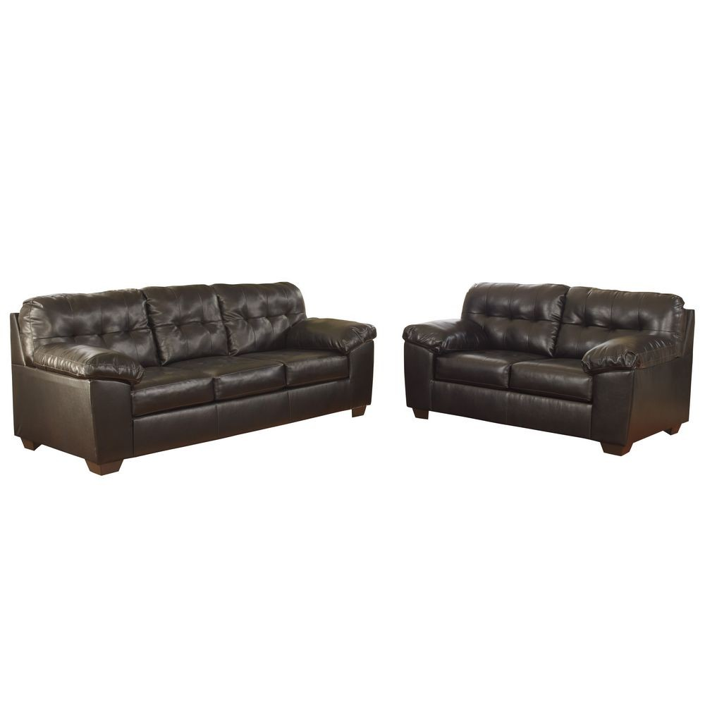 Flash Furniture FSD-2399SET-CHO-GG Signature Design by Ashley Alliston Living Room Set in Chocolate DuraBlend