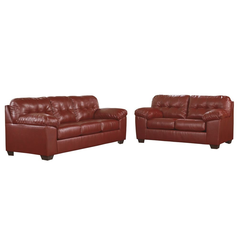 Flash Furniture FSD-2399SET-RED-GG Signature Design by Ashley Alliston Living Room Set in Salsa DuraBlend