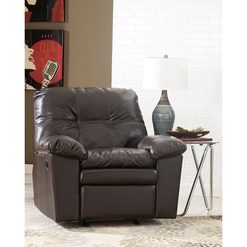 Flash Furniture FSD-2799REC-JAV-GG Signature Design by Ashley Jordon Rocker Recliner in Java DuraBlend