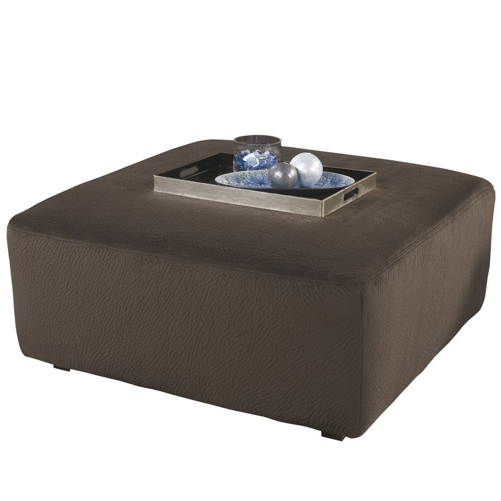 Flash Furniture FSD-6049OTT-CHO-GG Signature Design by Ashley Jessa Place Oversized Ottoman in Chocolate Fabric
