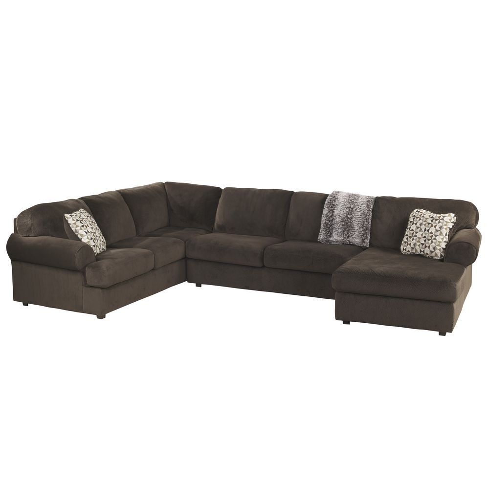 Flash Furniture FSD-6049SEC-CHO-GG Signature Design by Ashley Jessa Place Sectional in Chocolate Fabric
