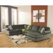 Flash Furniture FSD-6049SEC-PEW-GG Signature Design by Ashley Jessa Place Sectional in Pewter Fabric