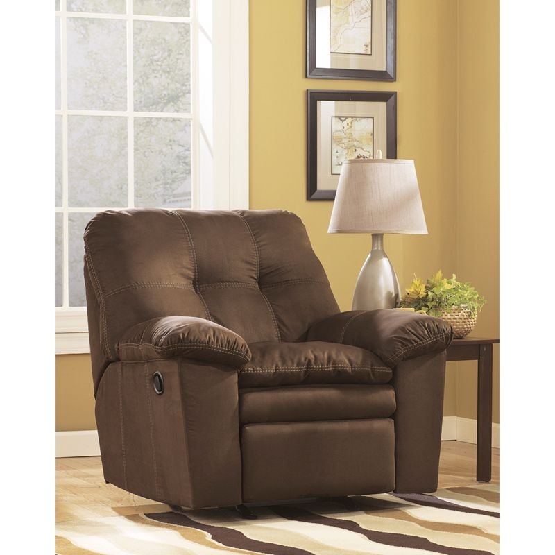 Flash Furniture FSD-7199REC-CAF-GG Signature Design by Ashley Mercer Rocker Recliner in Cafe Fabric
