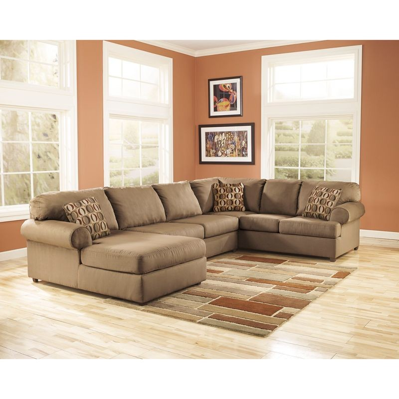 Flash Furniture FSD-8059SEC-MOC-GG Signature Design by Ashley Cowan Sectional in Mocha Fabric