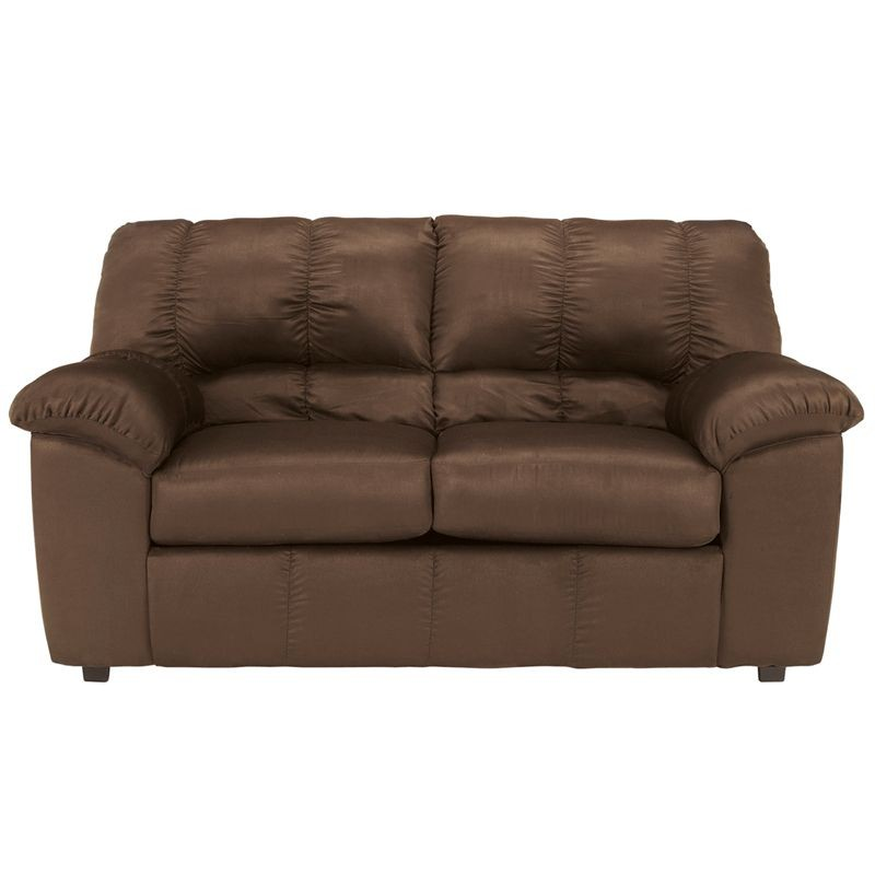 Flash Furniture FSD-8799LS-CAF-GG Signature Design by Ashley Dominator Loveseat in Cafe Fabric