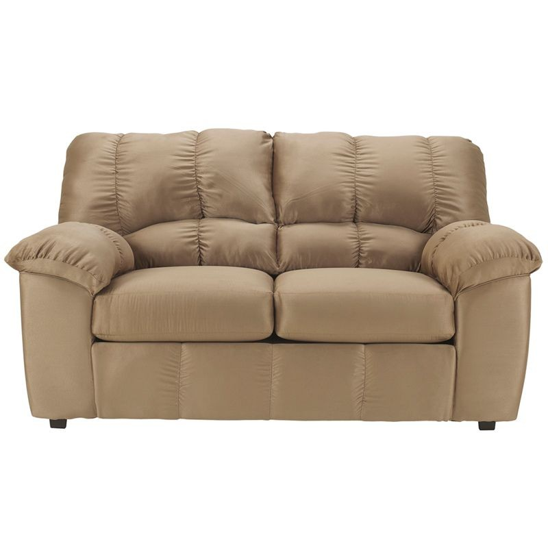 Flash Furniture FSD-8799LS-MOC-GG Signature Design by Ashley Dominator Loveseat in Mocha Fabric