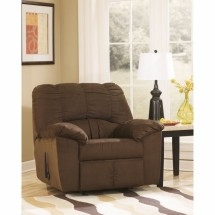 Flash Furniture FSD-8799REC-CAF-GG Signature Design by Ashley Dominator Rocker Recliner in Cafe Fabric