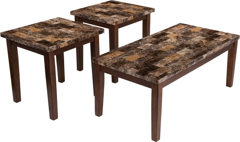 Flash Furniture FSD-TS3-20MB-GG Signature Design by Ashley Theo, 3 Piece Occasional Table Set