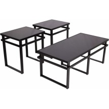 Flash Furniture FSD-TS3-32BK-GG Signature Design by Ashley Laney, 3 Piece Occasional Table Set