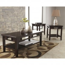 Flash Furniture FSD-TS3-37DB-GG Signature Design by Ashley Logan, 3 Piece Occasional Table Set