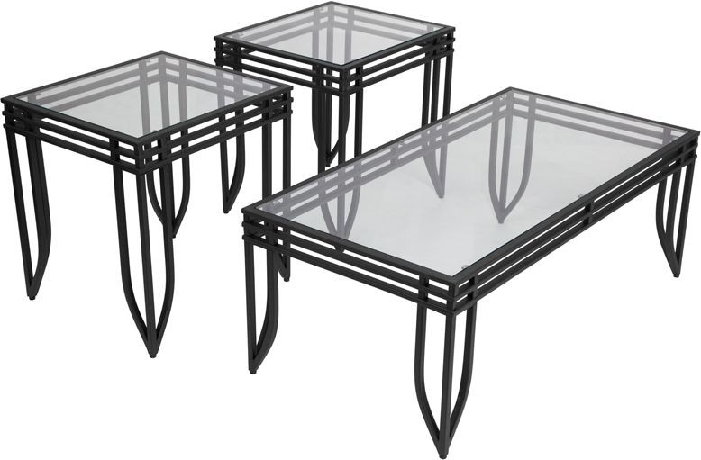 Flash Furniture FSD-TS3-52BB-GG Signature Design by Ashley Exeter, 3 Piece Occasional Table Set