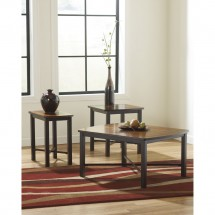 Flash Furniture FSD-TS3-63DBZ-GG Signature Design by Ashley Fletcher, 3 Piece Occasional Table Set