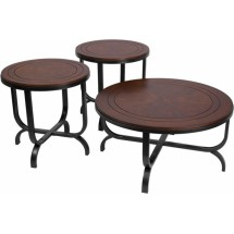 Flash Furniture FSD-TS3-65DB-GG Signature Design by Ashley Ferlin, 3 Piece Occasional Table Set