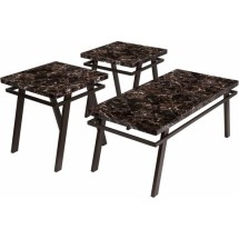 Flash Furniture FSD-TS3-76FM-GG Signature Design by Ashley Paintsville, 3 Piece Occasional Table Set