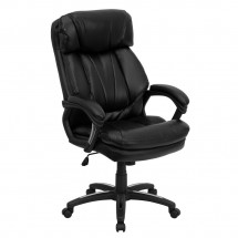 Flash Furniture GO-1097-BK-LEA-GG HERCULES Series High Back Black Leather Executive Office Chair