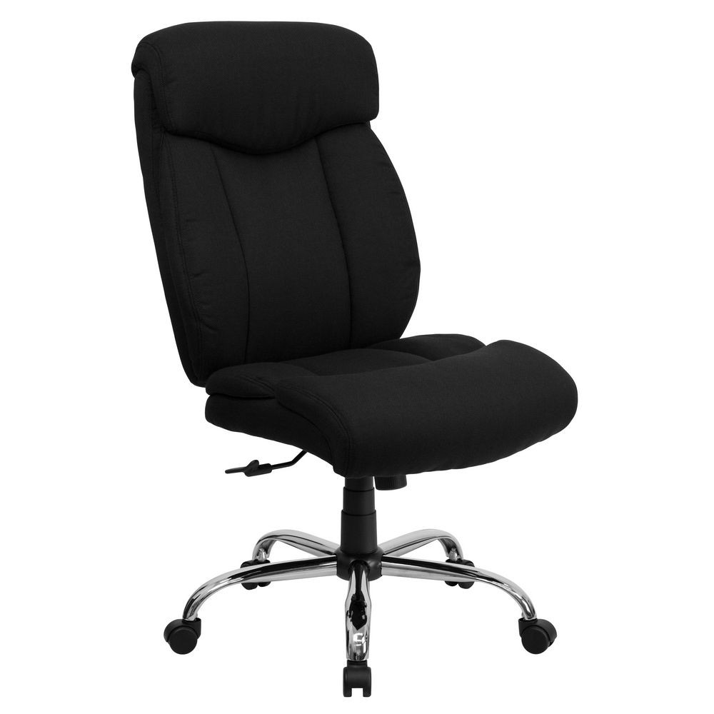 Flash Furniture GO-1235-BK-FAB-A-GG HERCULES Series 350 lb. Capacity Big and Tall Black Fabric Office Chair