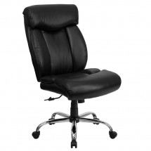 Flash Furniture GO-1235-BK-LEA-GG HERCULES Series 350 lb. Capacity Big and Tall Black Leather Office Chair