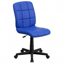 Flash Furniture GO-1691-1-BLUE-GG Blue Mid-Back Quilted Vinyl Task Chair