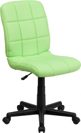 Flash Furniture GO-1691-1-GREEN-GG Green Mid-Back Quilted Vinyl Task Chair