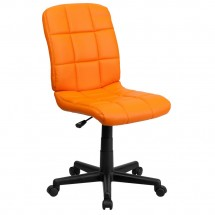 Flash Furniture GO-1691-1-ORG-GG  Orange Mid-Back Quilted Vinyl Task Chair