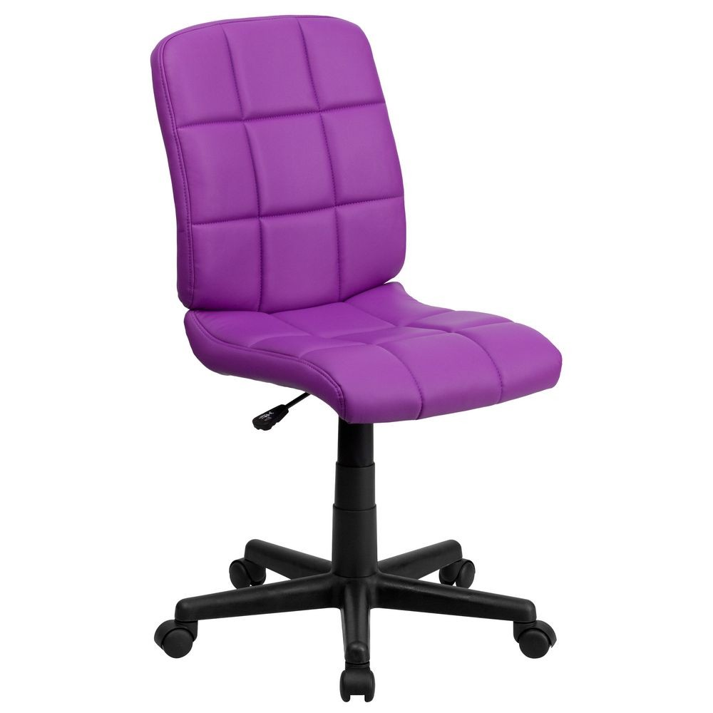 Flash Furniture GO-1691-1-PUR-GG Purple Mid-Back Quilted Vinyl Task Chair