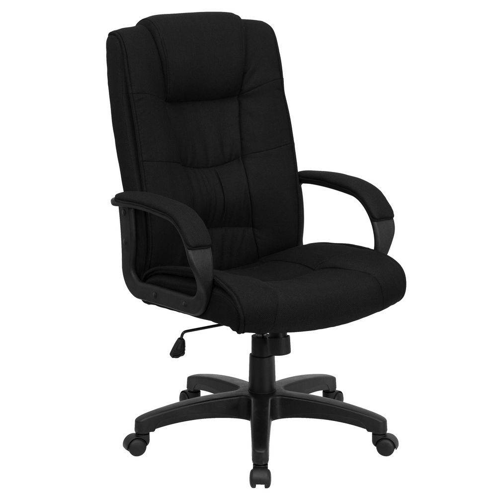 Flash Furniture GO-5301B-BK-GG High Back Black Fabric Executive Office Chair