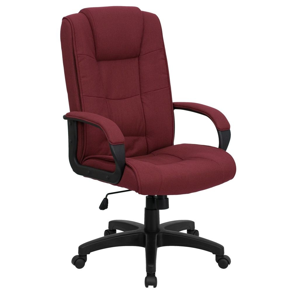 Flash Furniture GO-5301B-BY-GG High Back Burgundy Fabric Executive Office Chair
