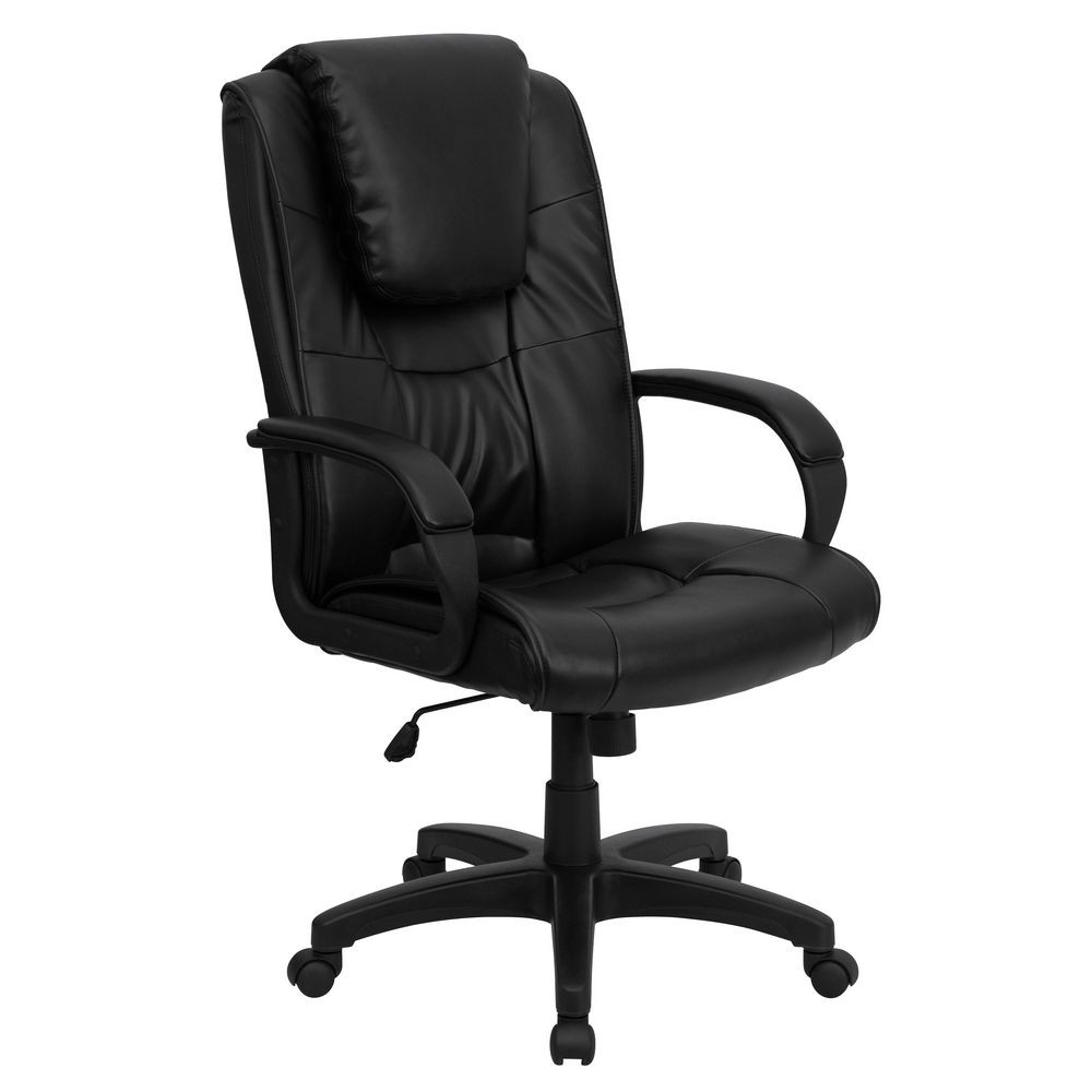 Flash Furniture GO-5301BSPEC-CH-BK-LEA-GG High Back Black Leather Executive Office Chair