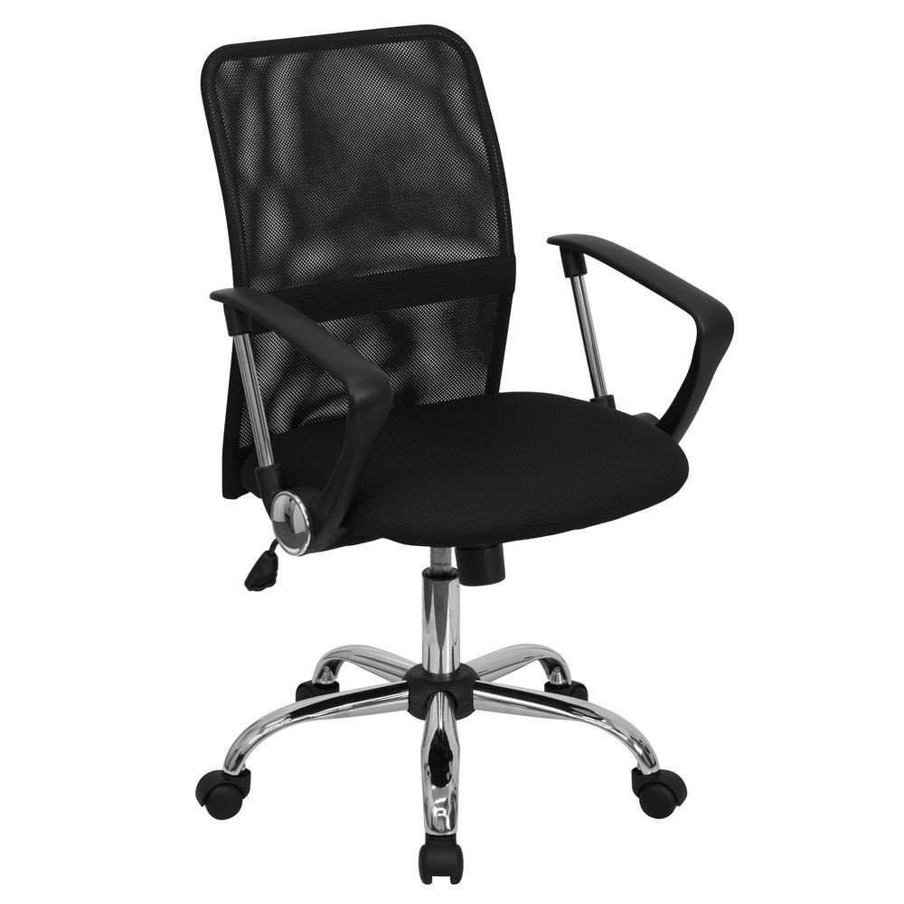 Flash Furniture GO-6057-GG Mid-Back Black Mesh Computer Chair