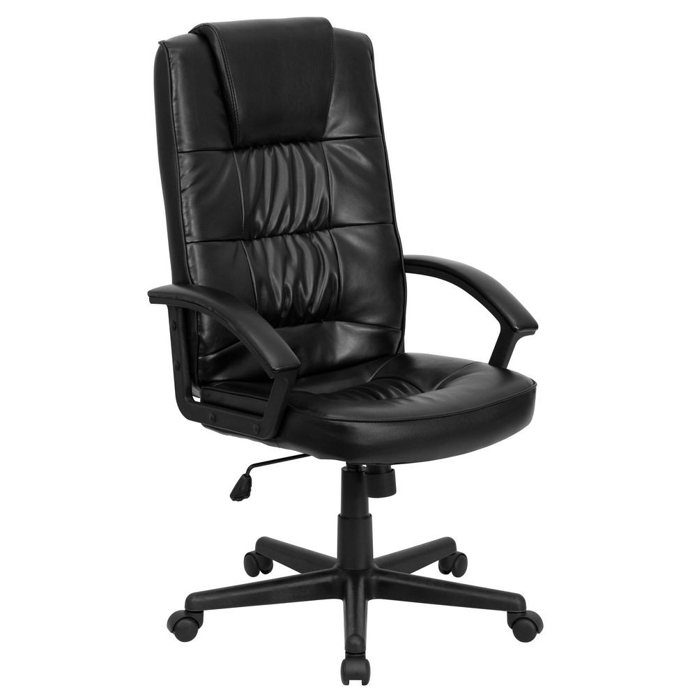 Flash Furniture GO-7102-GG High Back Black Leather Executive Office Chair