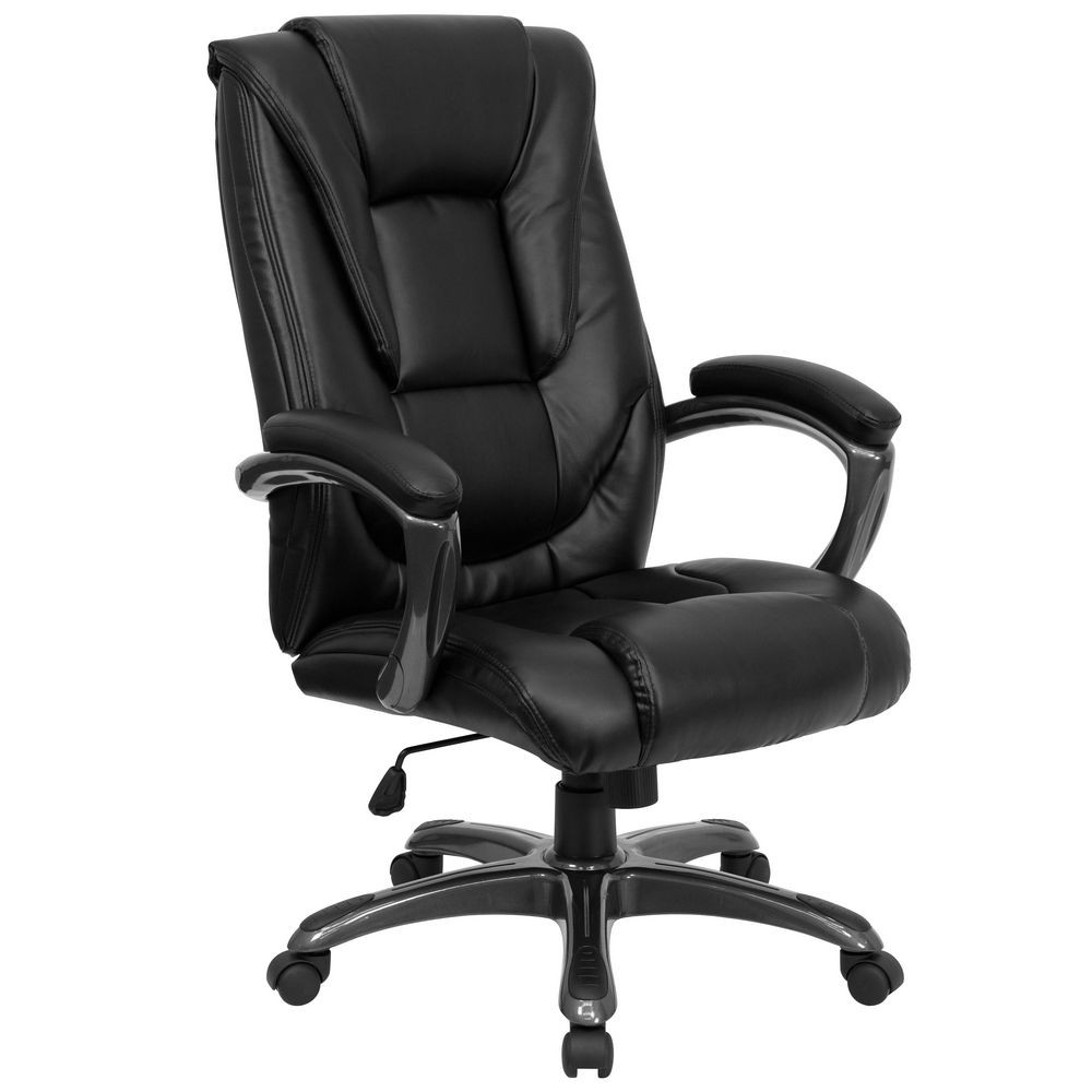 Flash Furniture GO-7194B-BK-GG High Back Black Leather Executive Office Chair